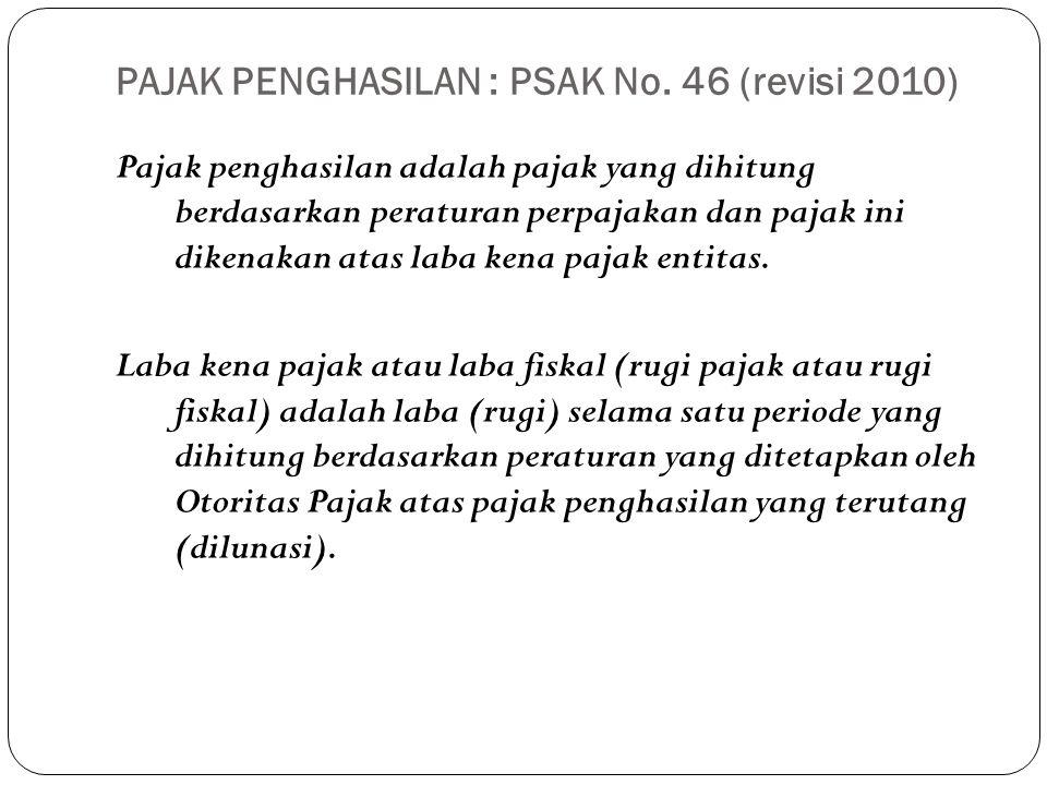 PAJAK PENGHASILAN : PSAK No. 46 (revisi 2010)