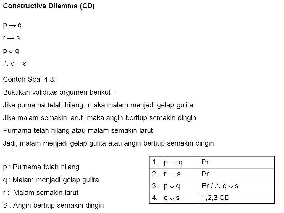 Constructive Dilemma (CD)