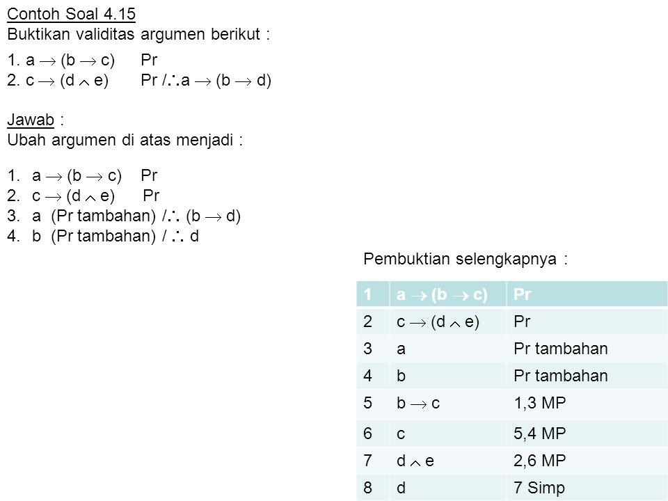 1. a  (b  c) Pr 2. c  (d  e) Pr /a  (b  d)