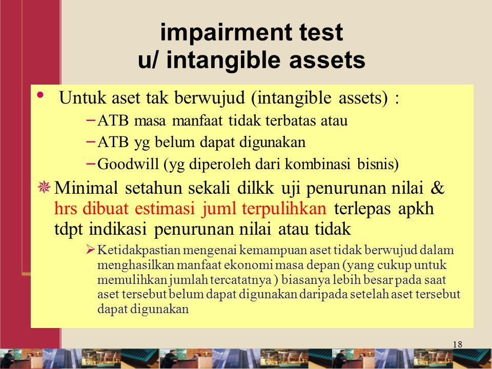 impairment test u/ intangible assets