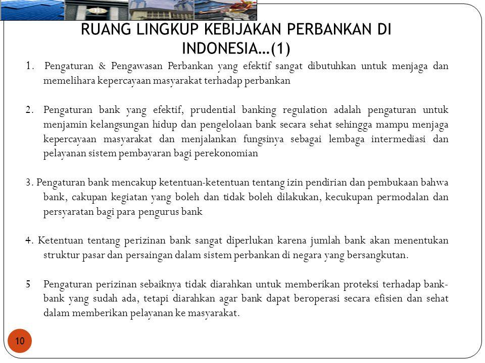 RUANG LINGKUP KEBIJAKAN PERBANKAN DI INDONESIA…(1)
