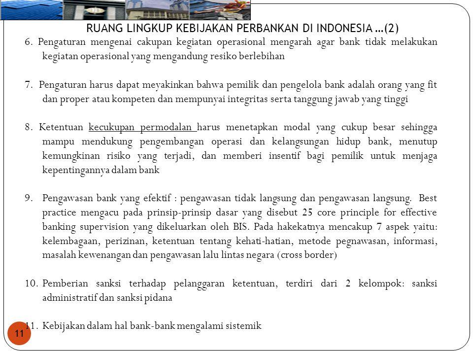 RUANG LINGKUP KEBIJAKAN PERBANKAN DI INDONESIA …(2)