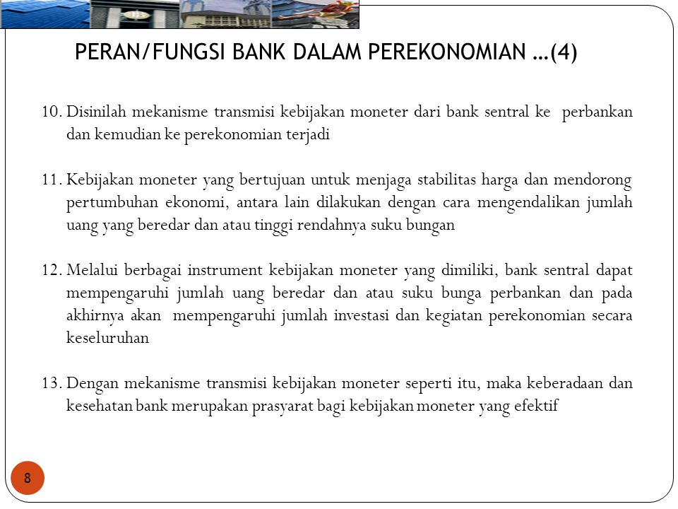 PERAN/FUNGSI BANK DALAM PEREKONOMIAN …(4)