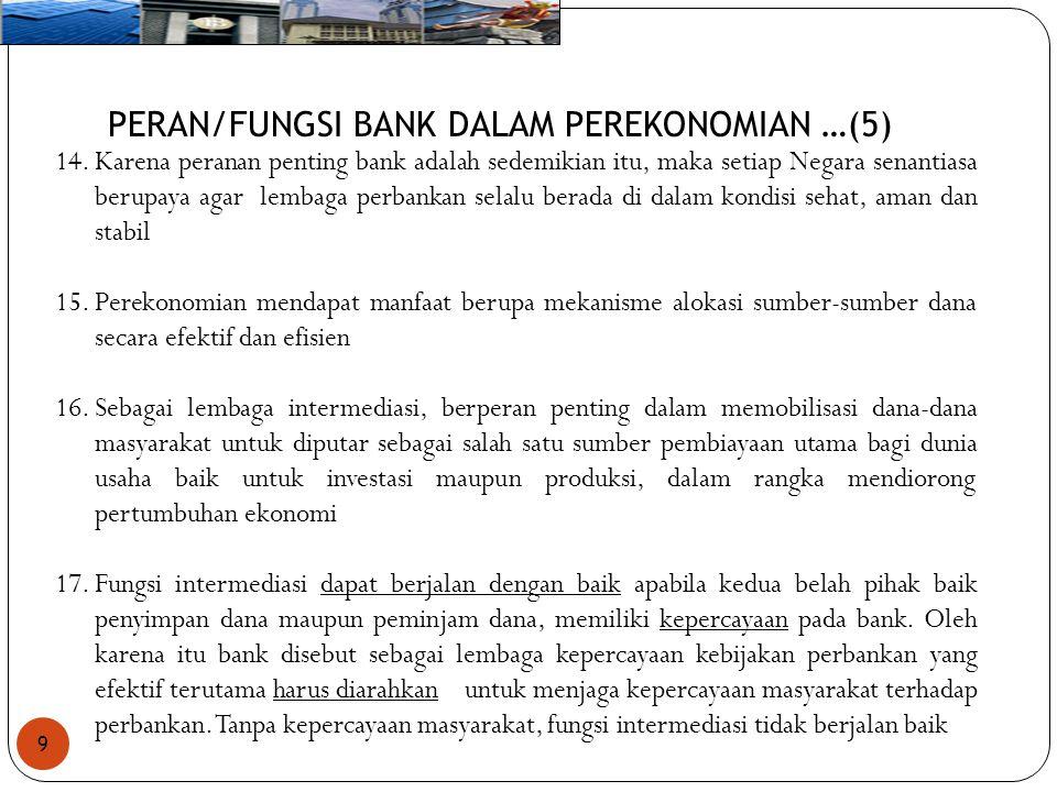 PERAN/FUNGSI BANK DALAM PEREKONOMIAN …(5)