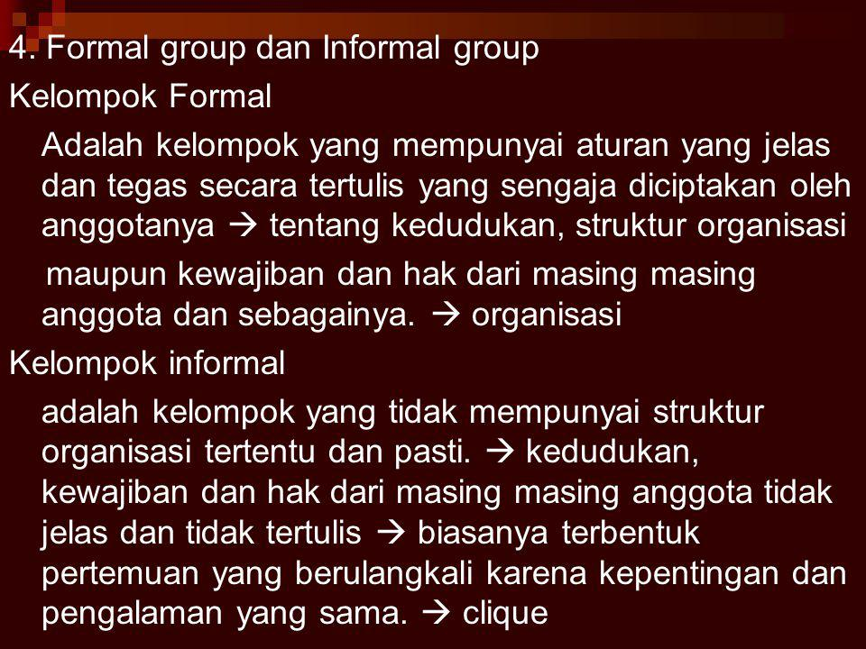 4. Formal group dan Informal group