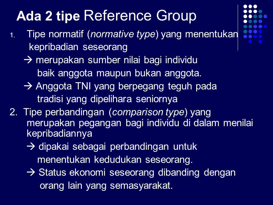 Ada 2 tipe Reference Group
