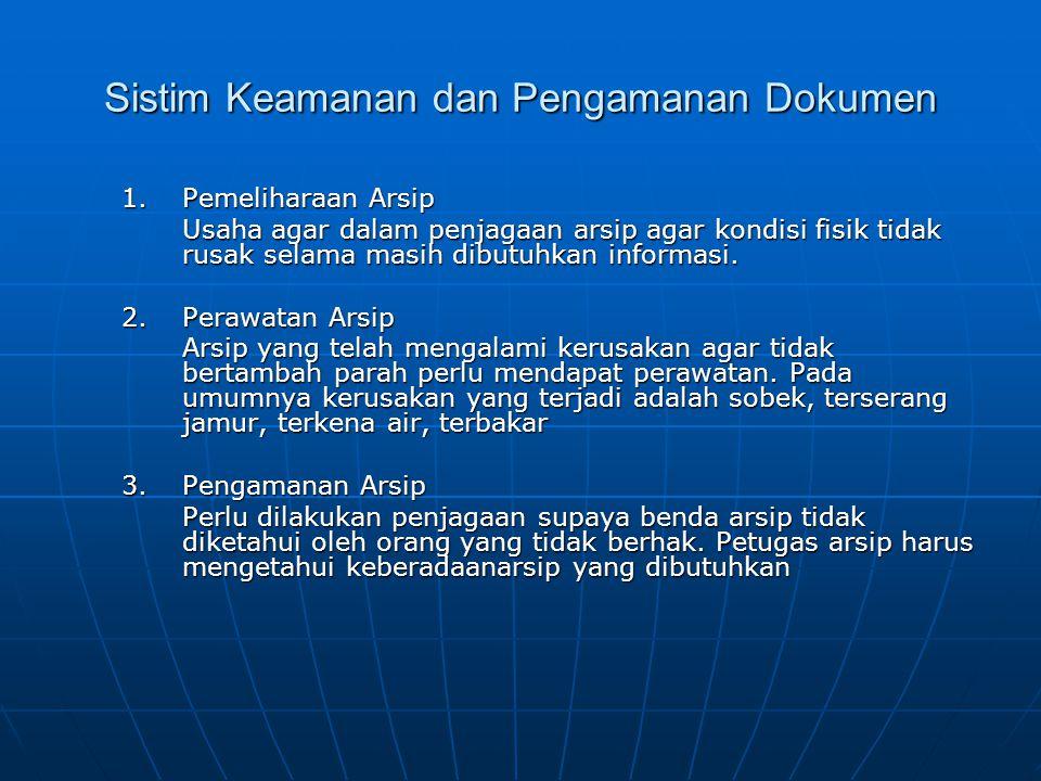 Sistim Keamanan dan Pengamanan Dokumen