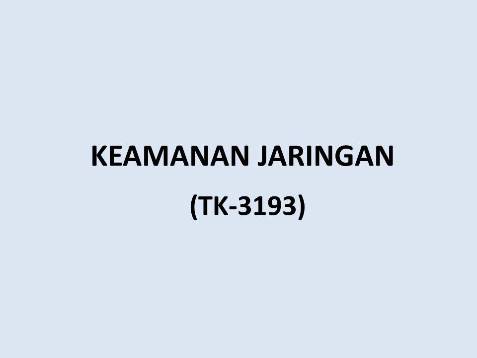 (TK-3193) KEAMANAN JARINGAN www.cloudcomputingchina.com