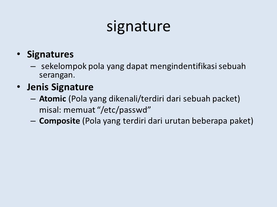 signature Signatures Jenis Signature