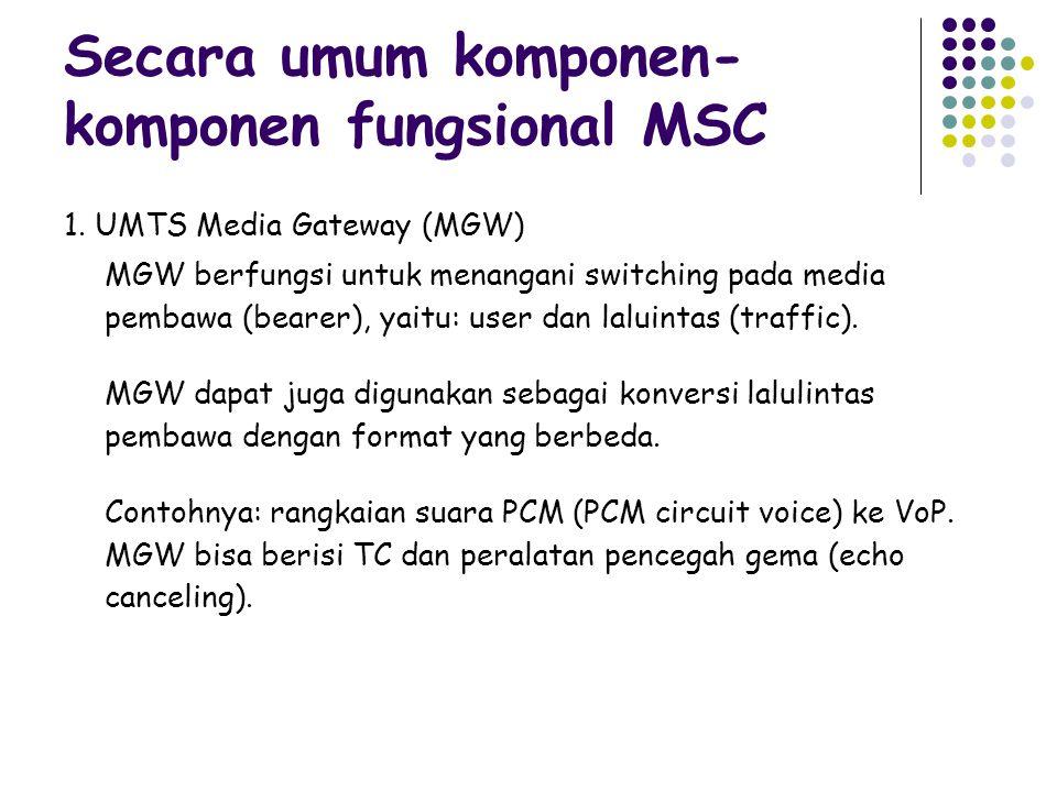 Secara umum komponen-komponen fungsional MSC