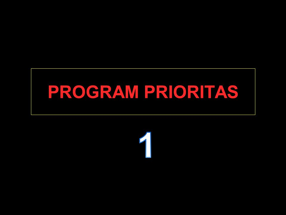 PROGRAM PRIORITAS 1