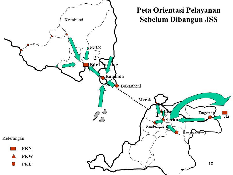 Peta Orientasi Pelayanan Sebelum Dibangun JSS
