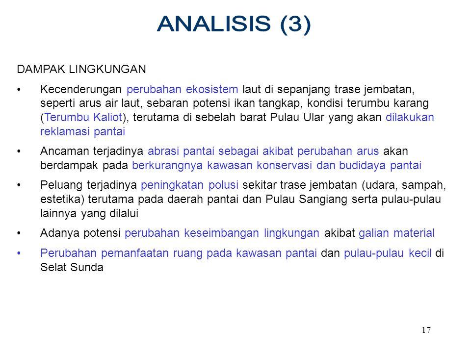 ANALISIS (3) DAMPAK LINGKUNGAN