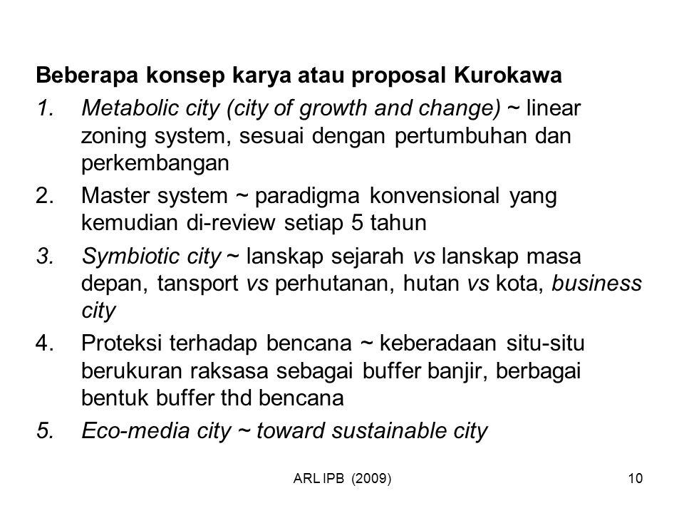 Beberapa konsep karya atau proposal Kurokawa