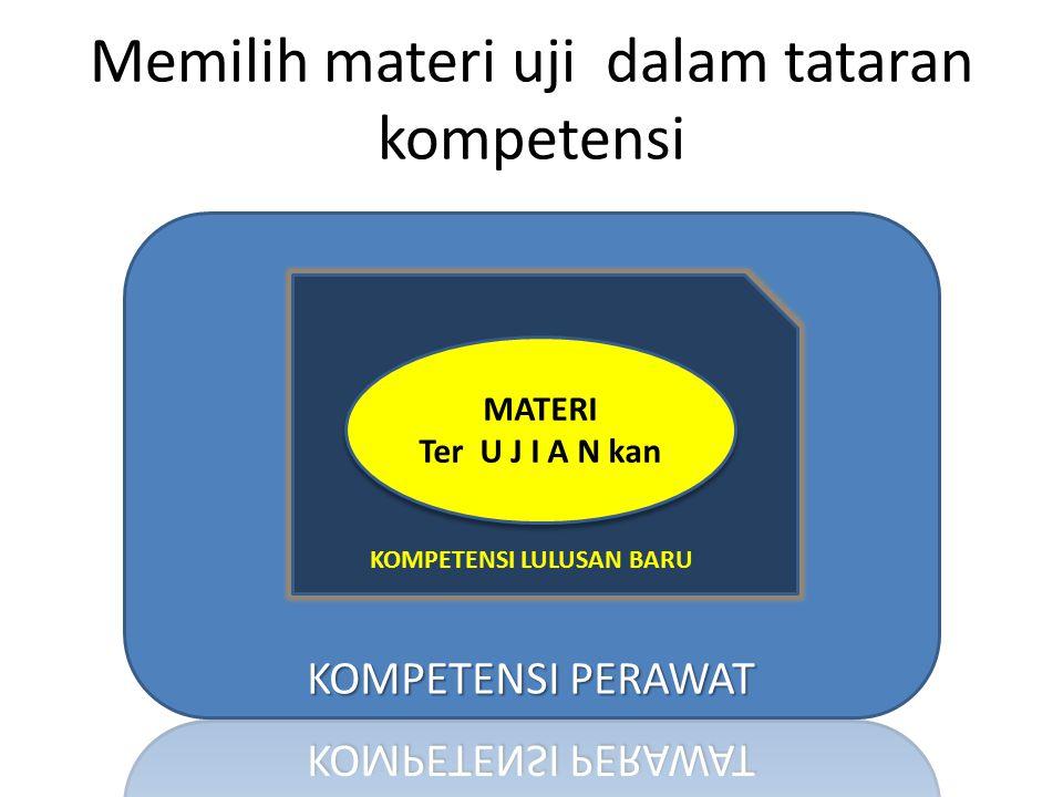 Memilih materi uji dalam tataran kompetensi