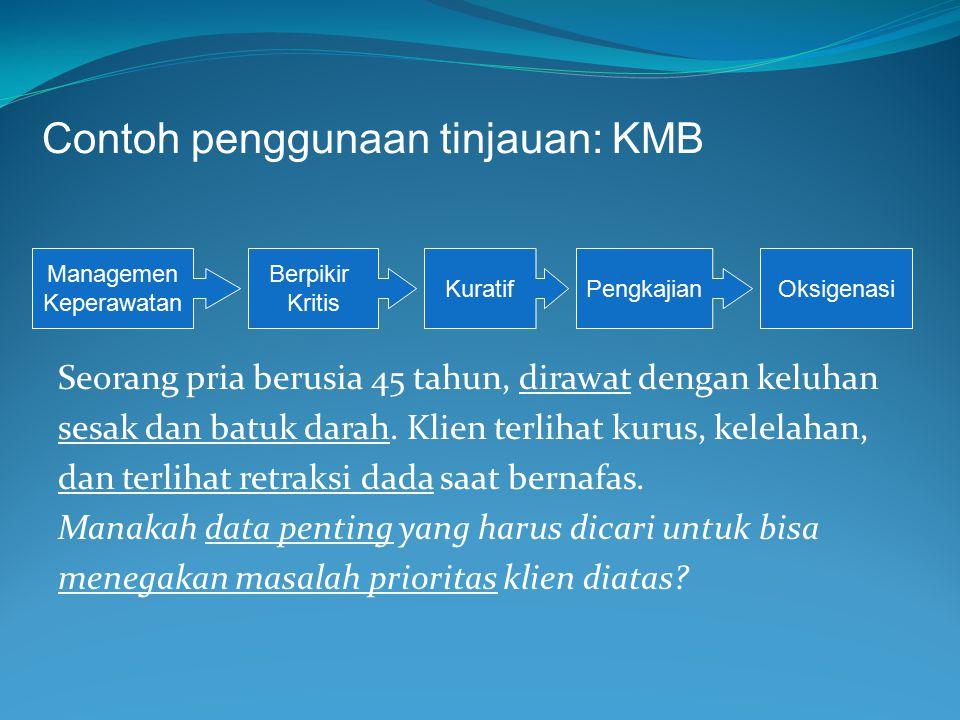 Contoh penggunaan tinjauan: KMB