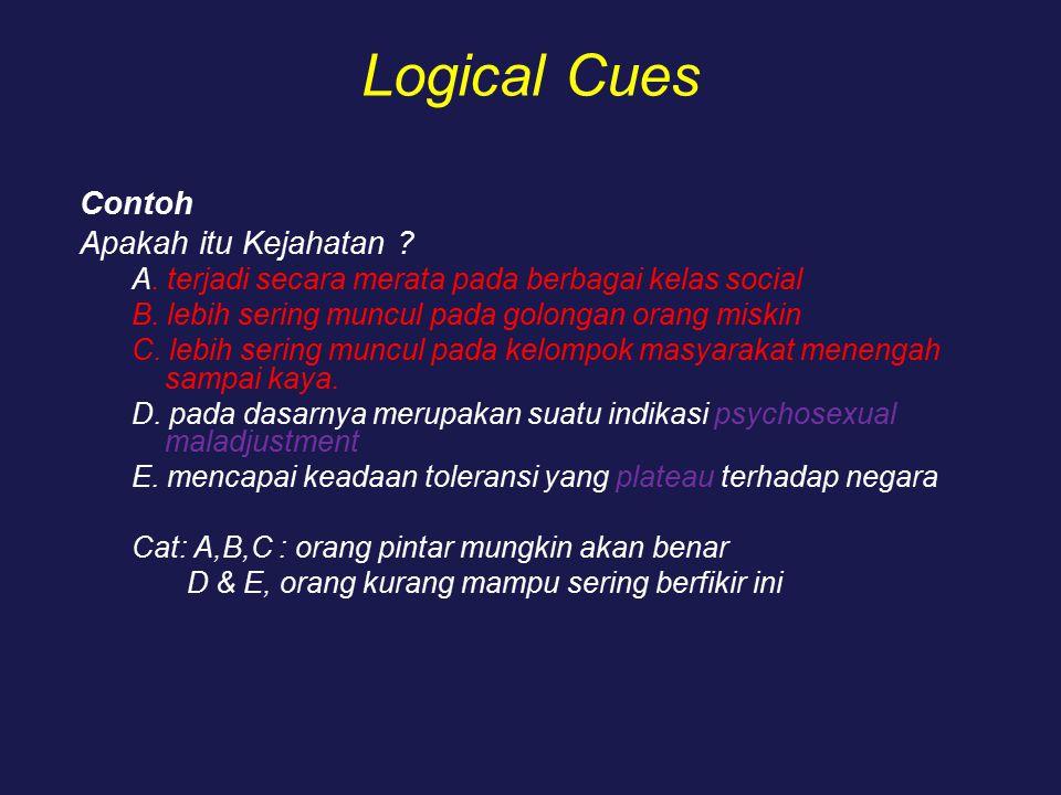 Logical Cues Contoh Apakah itu Kejahatan