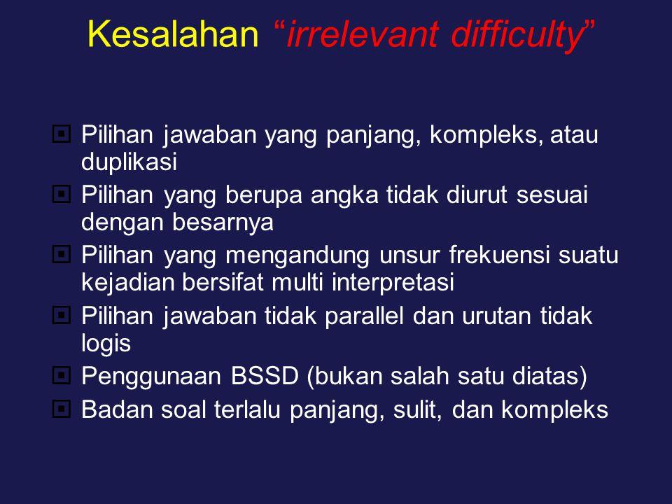 Kesalahan irrelevant difficulty
