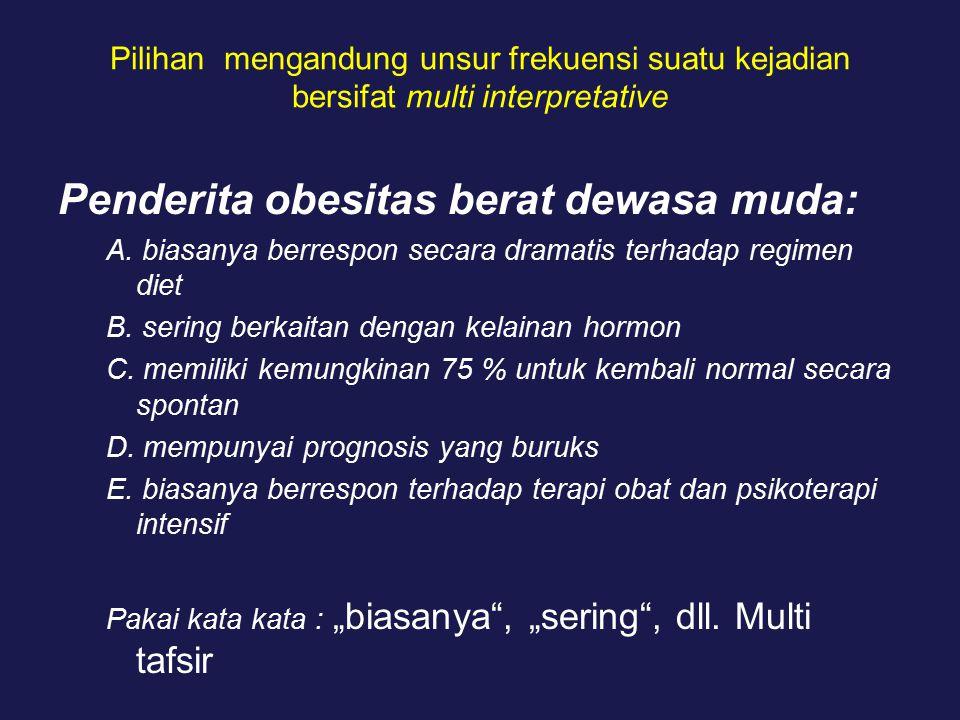 Penderita obesitas berat dewasa muda: