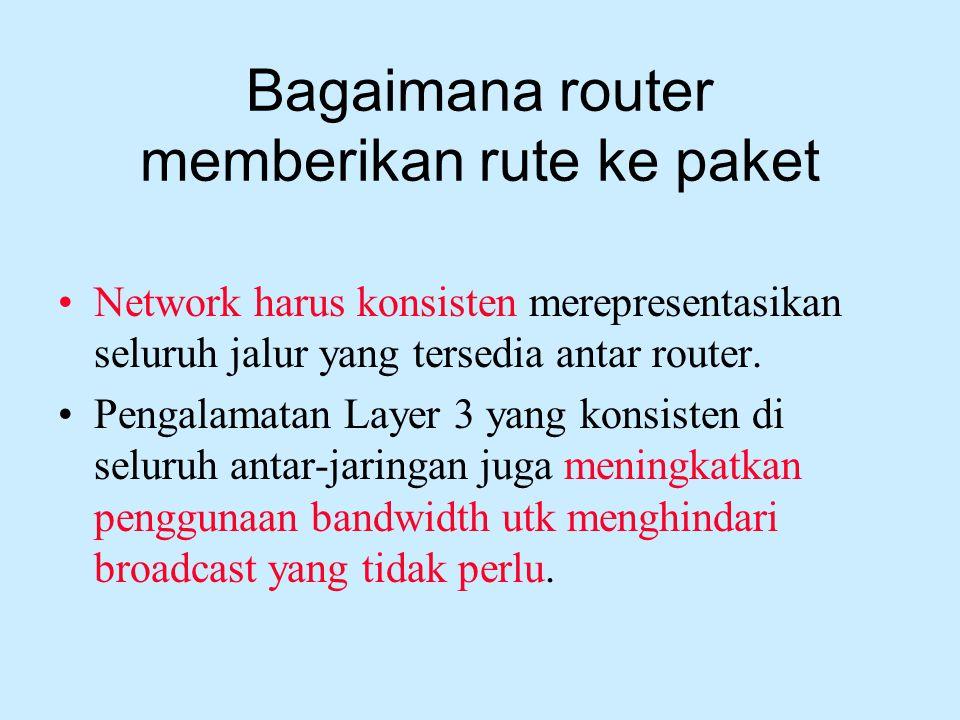 Bagaimana router memberikan rute ke paket