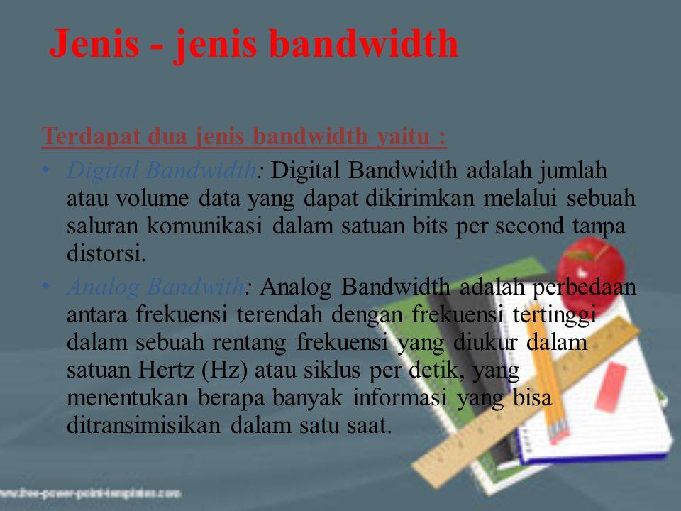 Jenis - jenis bandwidth