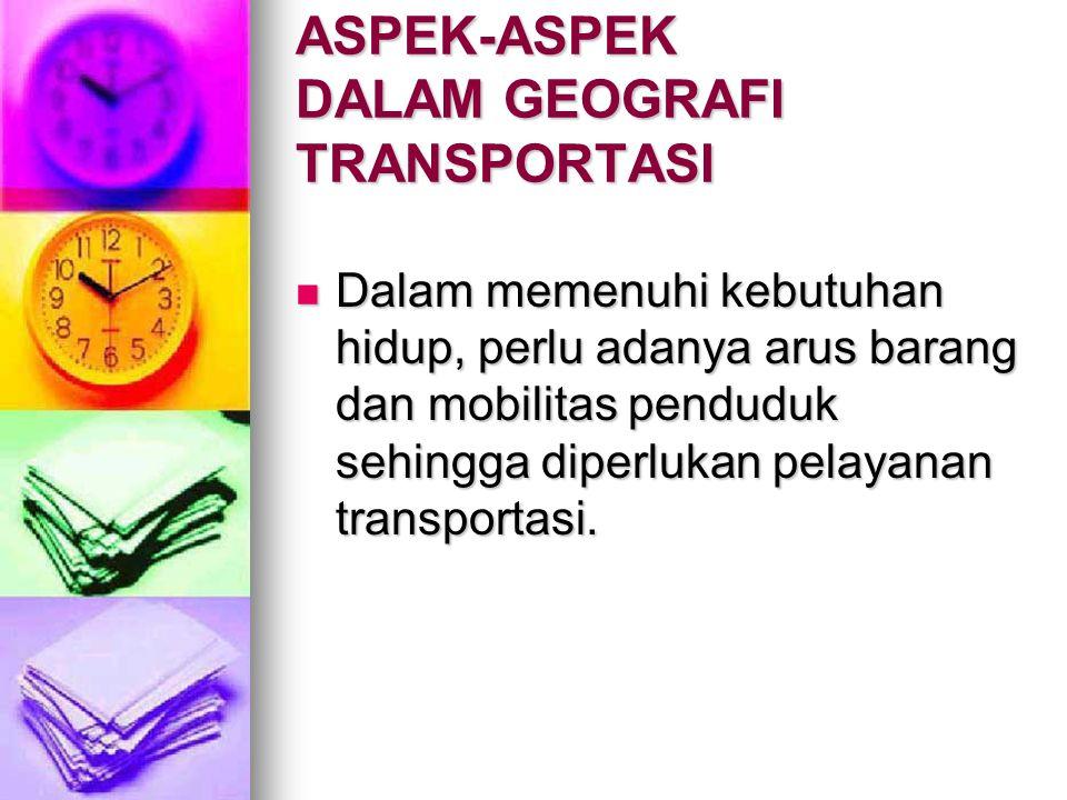 ASPEK-ASPEK DALAM GEOGRAFI TRANSPORTASI