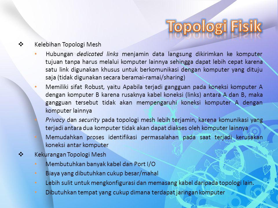 Topologi Fisik Kelebihan Topologi Mesh
