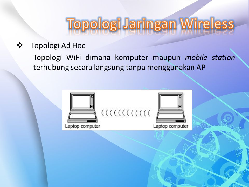 Topologi Jaringan Wireless