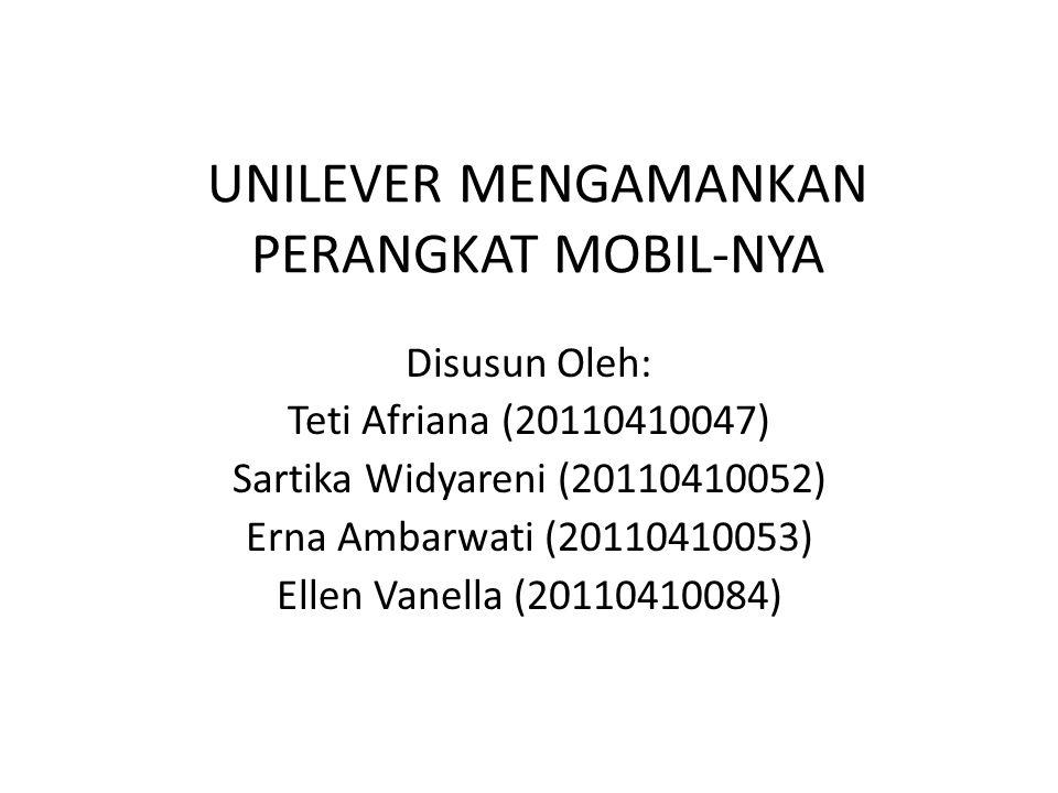 UNILEVER MENGAMANKAN PERANGKAT MOBIL-NYA