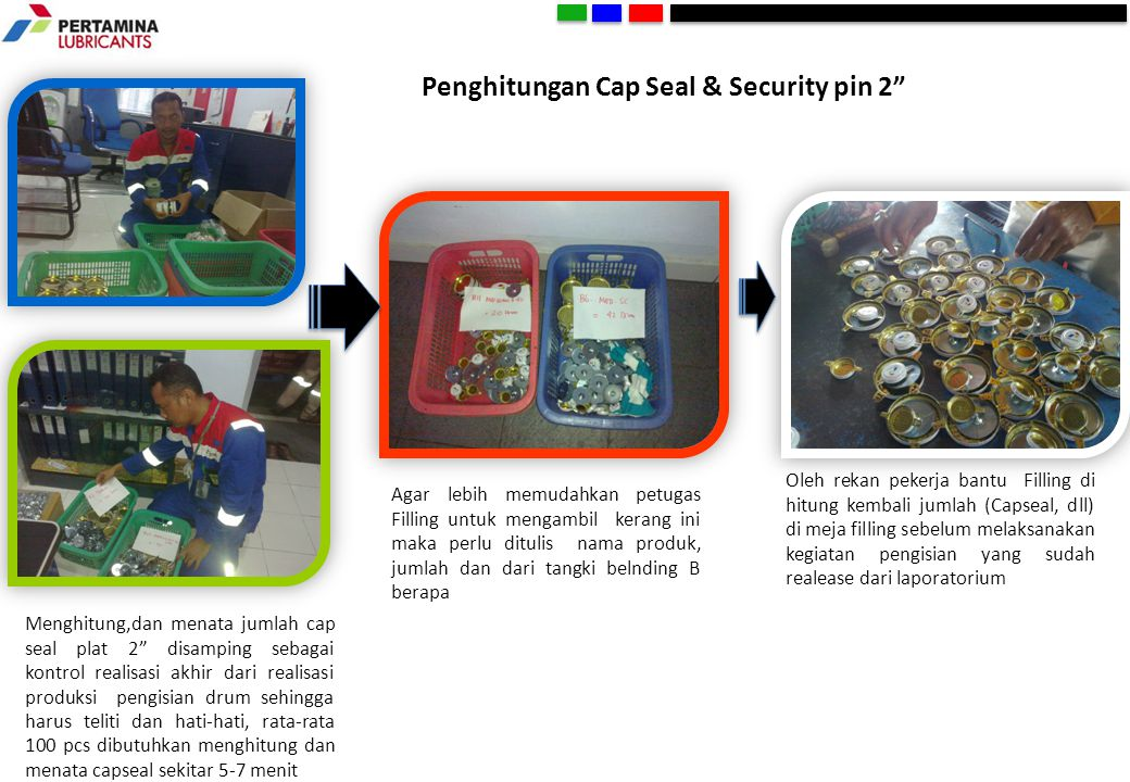 Penghitungan Cap Seal & Security pin 2