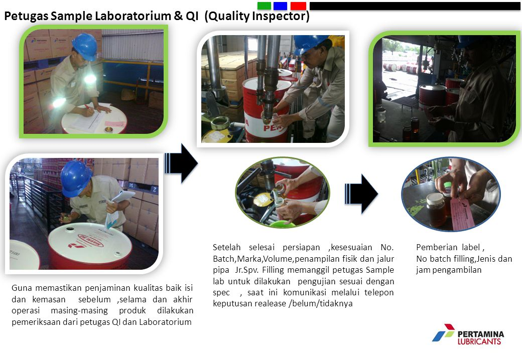 Petugas Sample Laboratorium & QI (Quality Inspector)