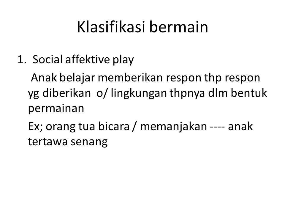 Klasifikasi bermain
