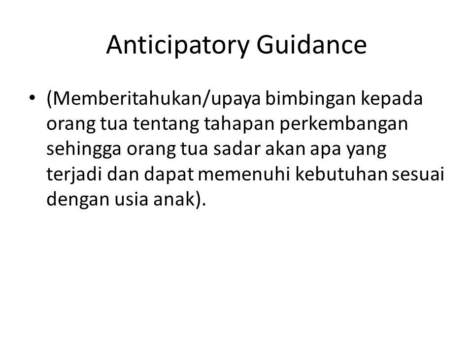 Anticipatory Guidance