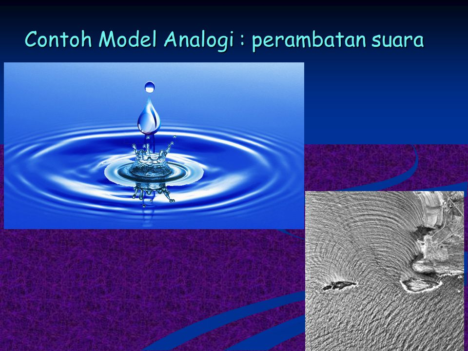Contoh Model Analogi : perambatan suara
