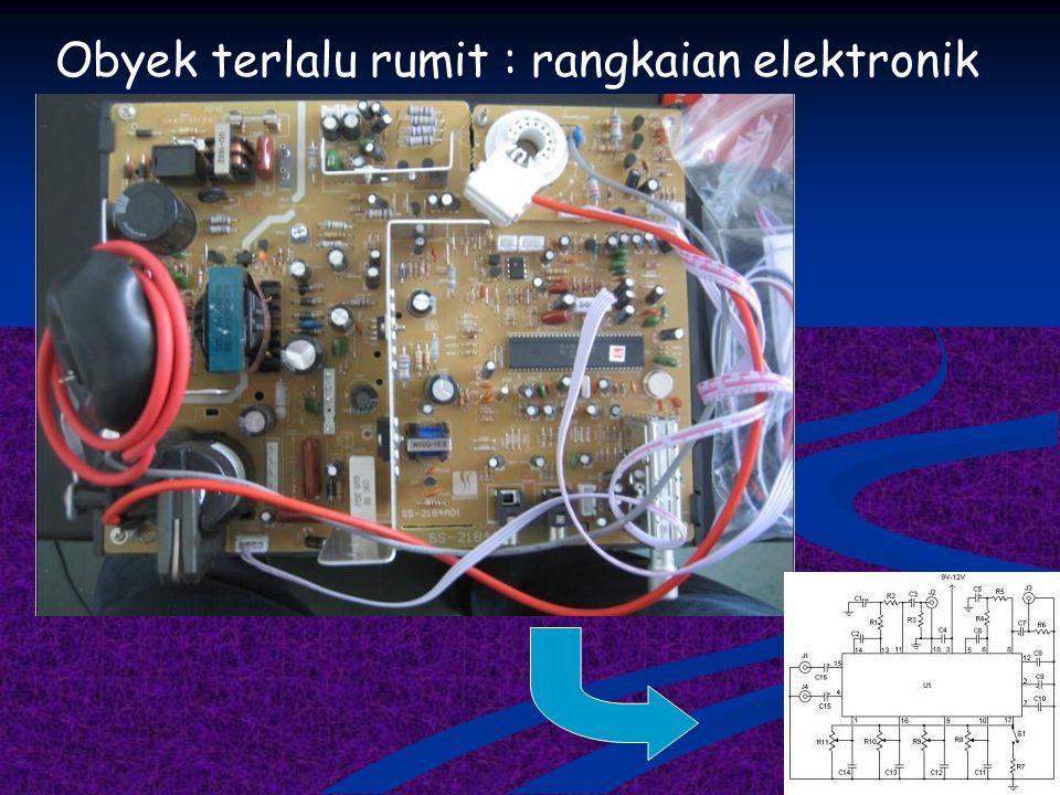 Obyek terlalu rumit : rangkaian elektronik