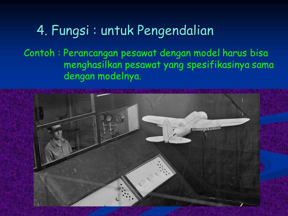 4. Fungsi : untuk Pengendalian