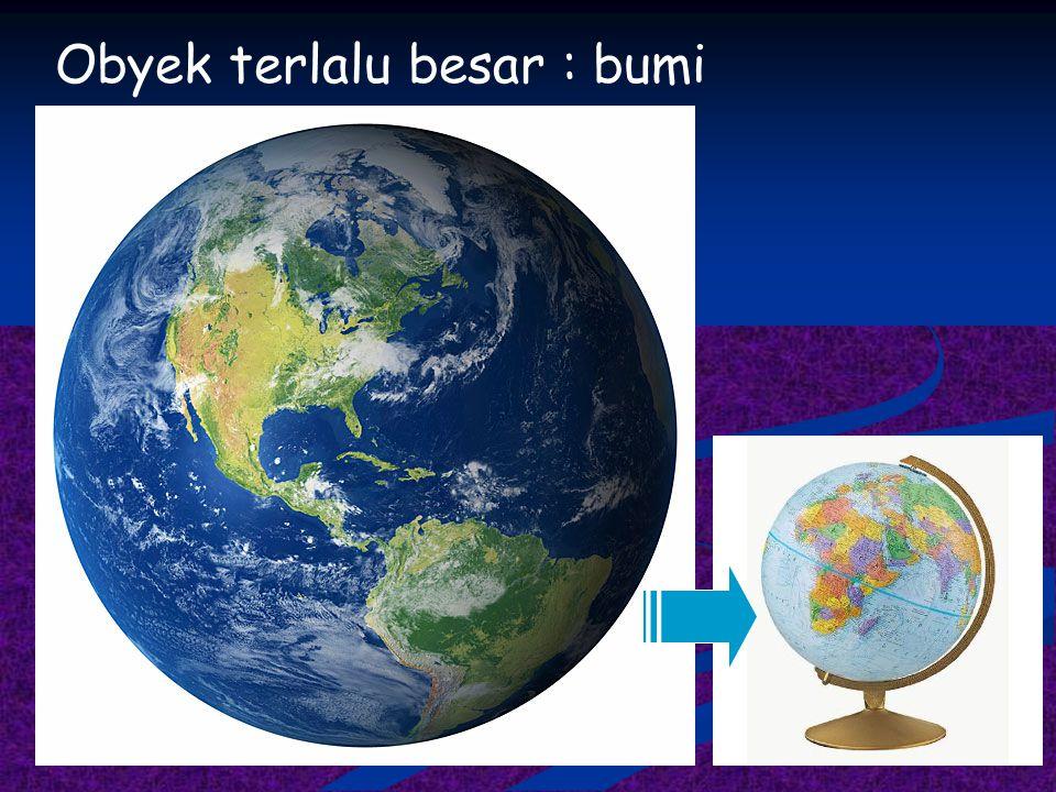Obyek terlalu besar : bumi