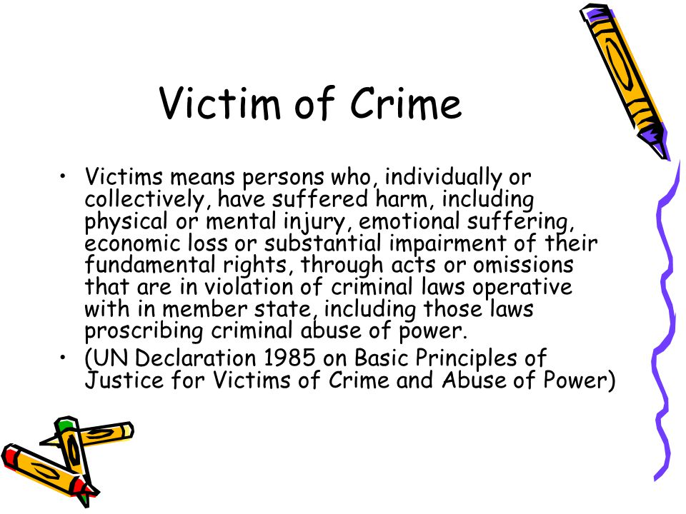 Victim of Crime
