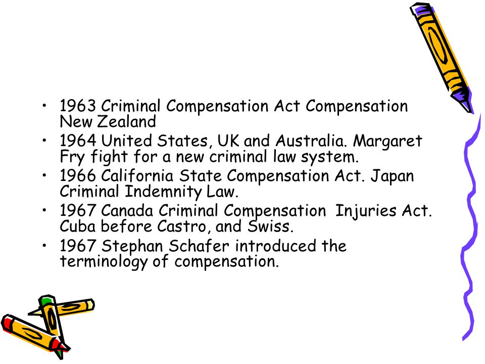 1963 Criminal Compensation Act Compensation New Zealand