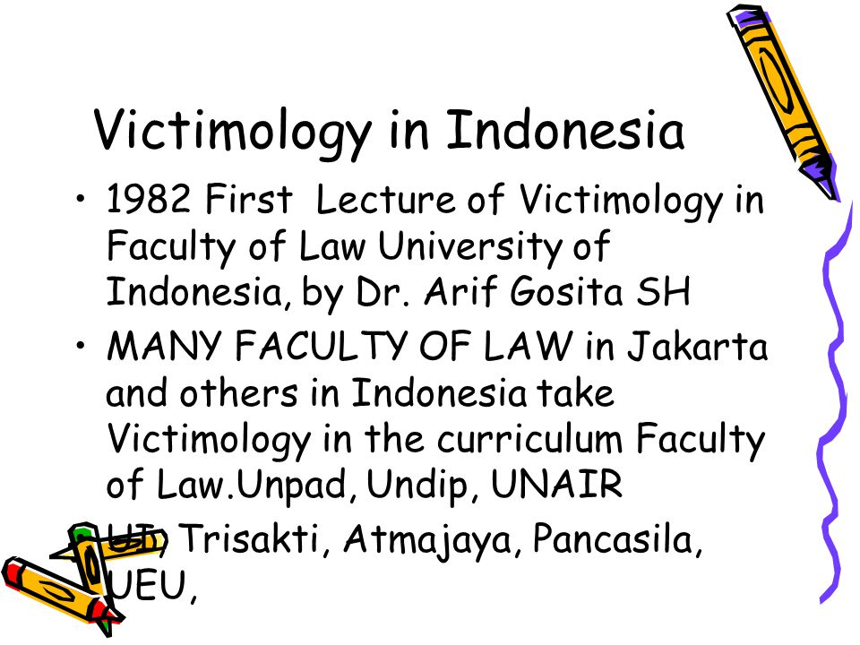 Victimology in Indonesia