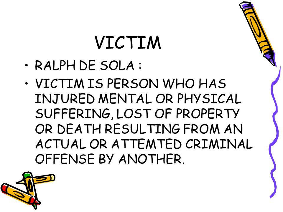 VICTIM RALPH DE SOLA :