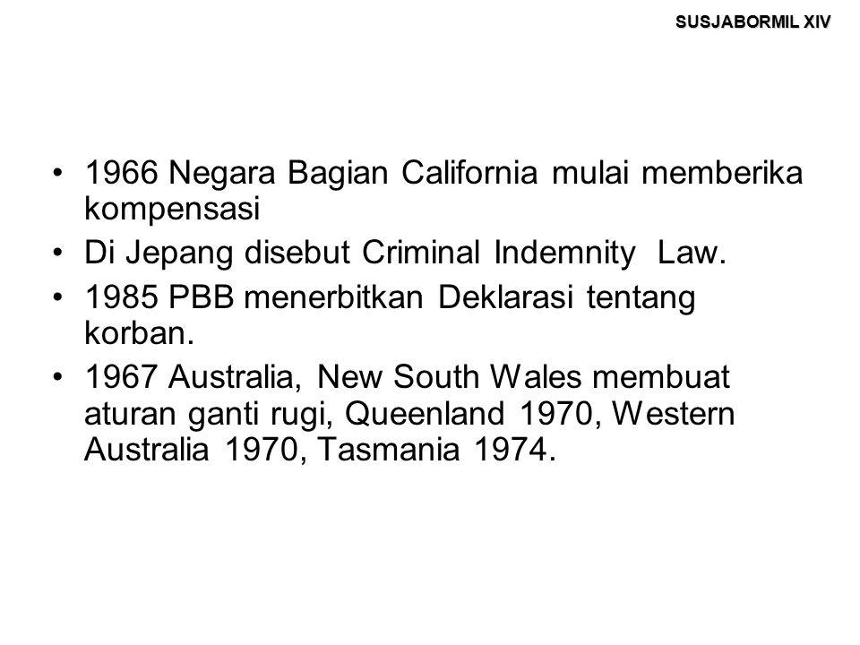 1966 Negara Bagian California mulai memberika kompensasi