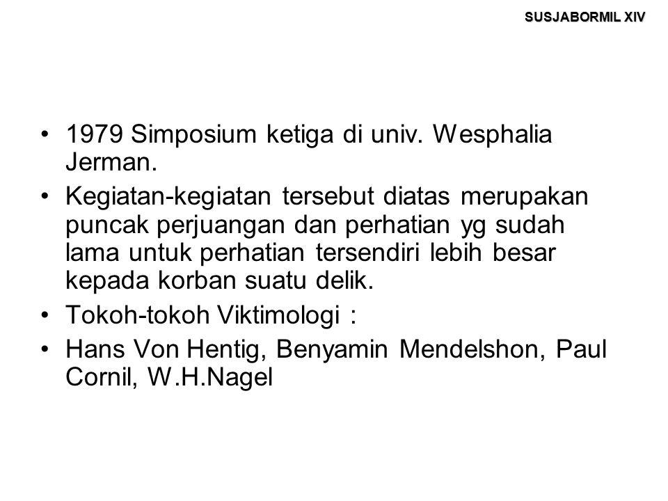 1979 Simposium ketiga di univ. Wesphalia Jerman.