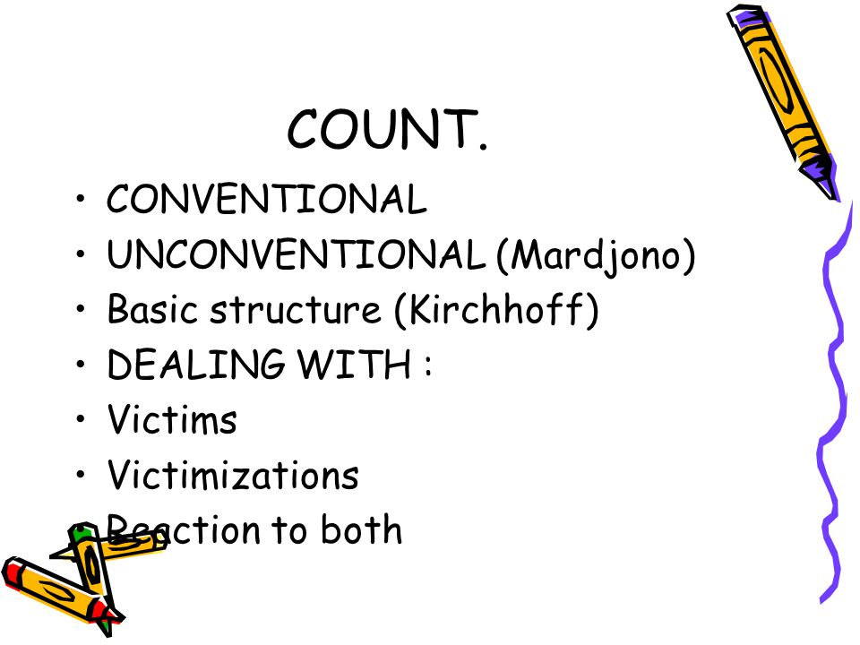 COUNT. CONVENTIONAL UNCONVENTIONAL (Mardjono)