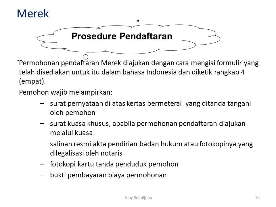 Prosedure Pendaftaran