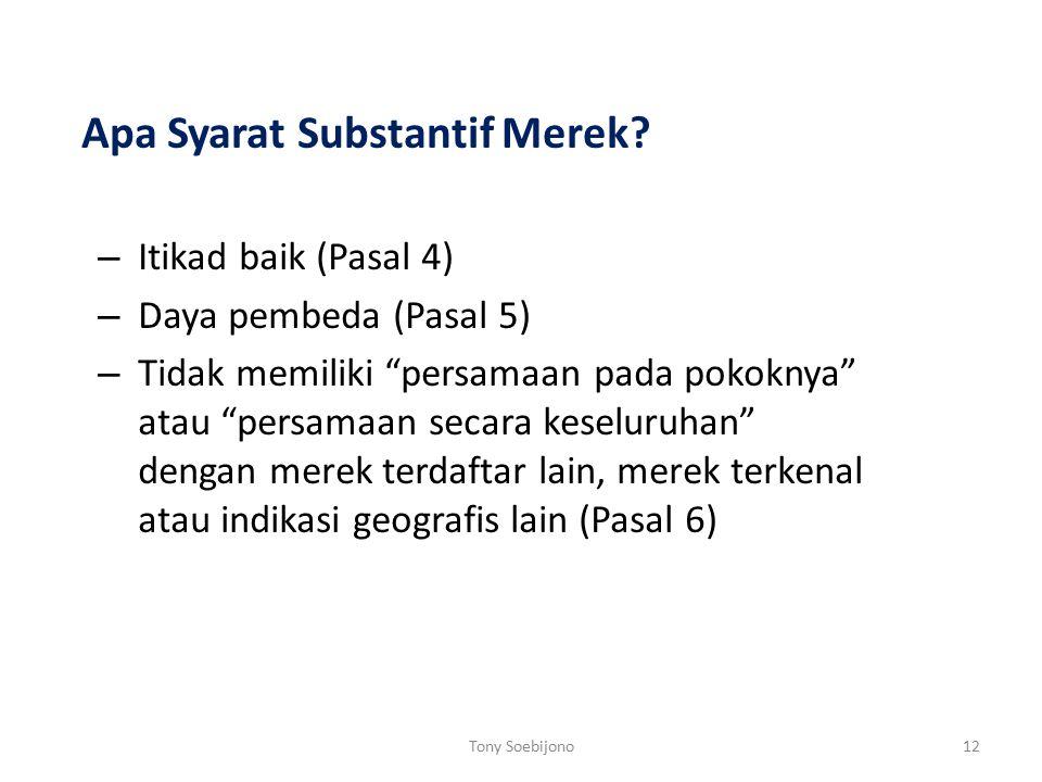 Apa Syarat Substantif Merek