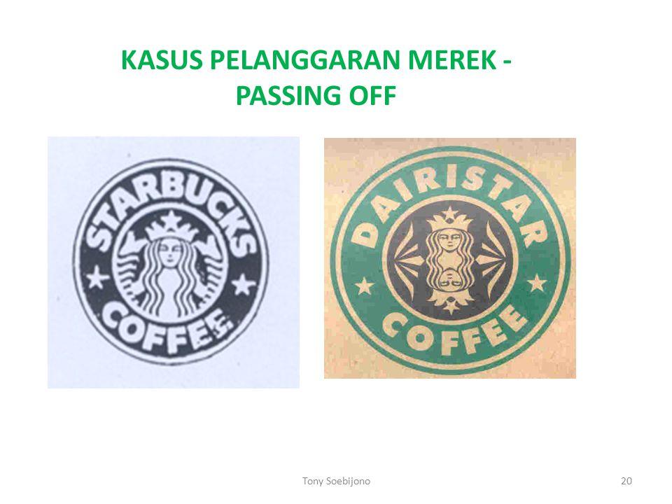 KASUS PELANGGARAN MEREK -PASSING OFF