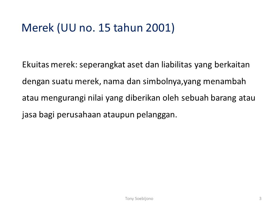 Merek (UU no. 15 tahun 2001)