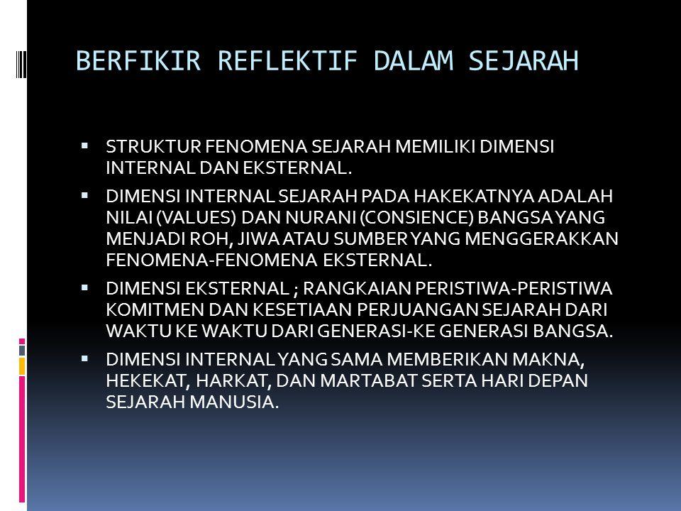BERFIKIR REFLEKTIF DALAM SEJARAH