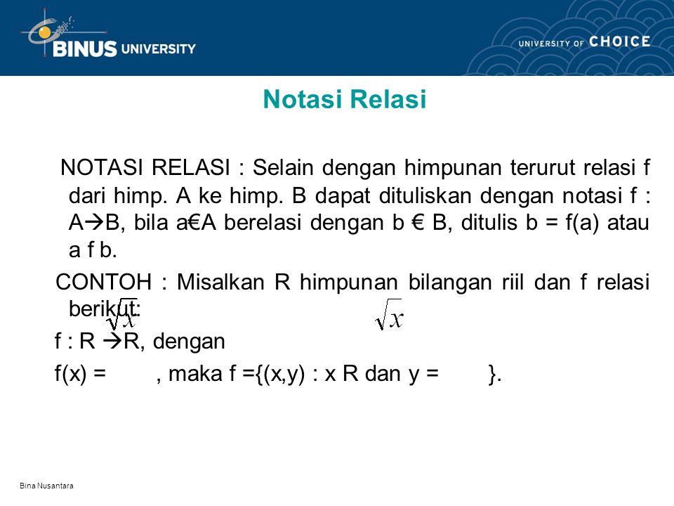 Notasi Relasi